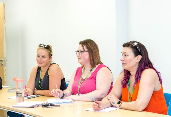 Counselling students during a class