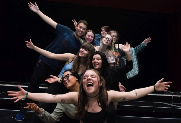 Group of performing arts students
