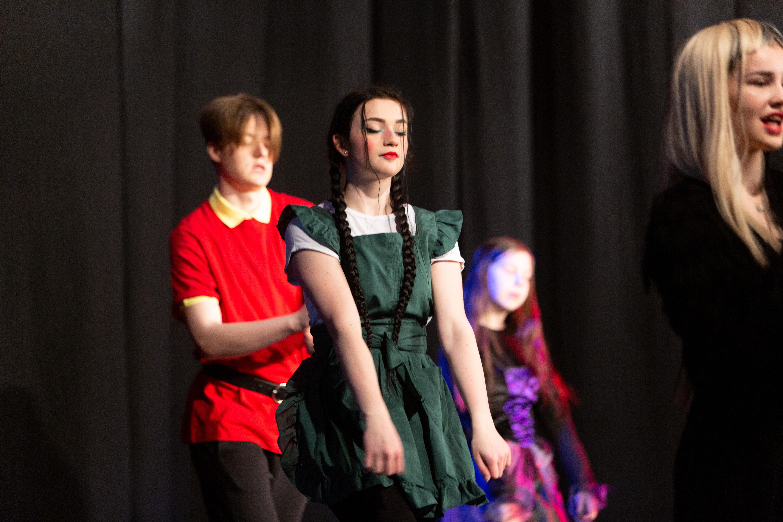 dancing students